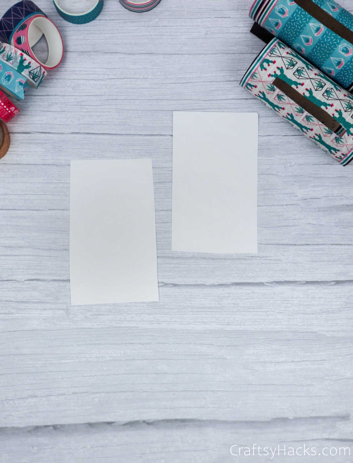 two strips of paper