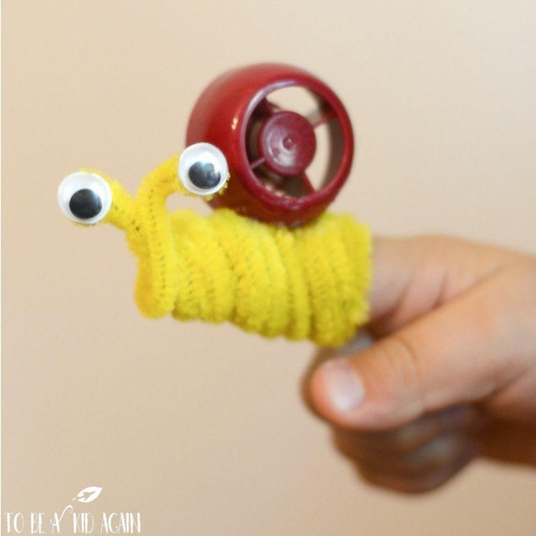 Finger Puppet Snails