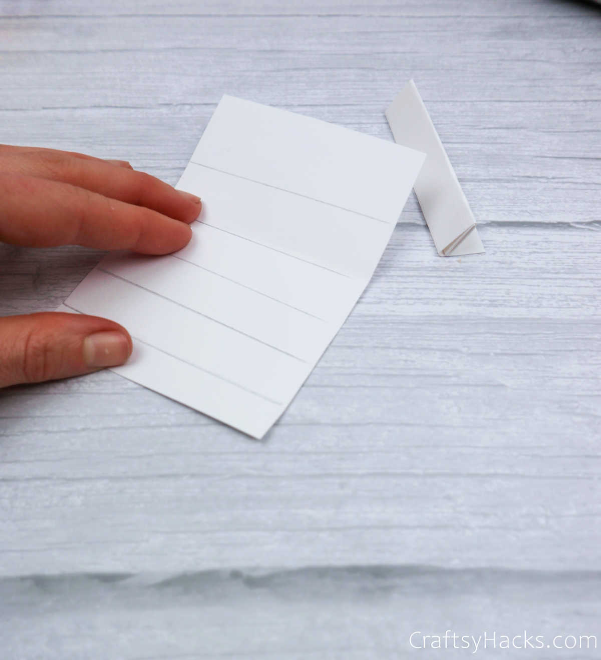 paper folded into 6