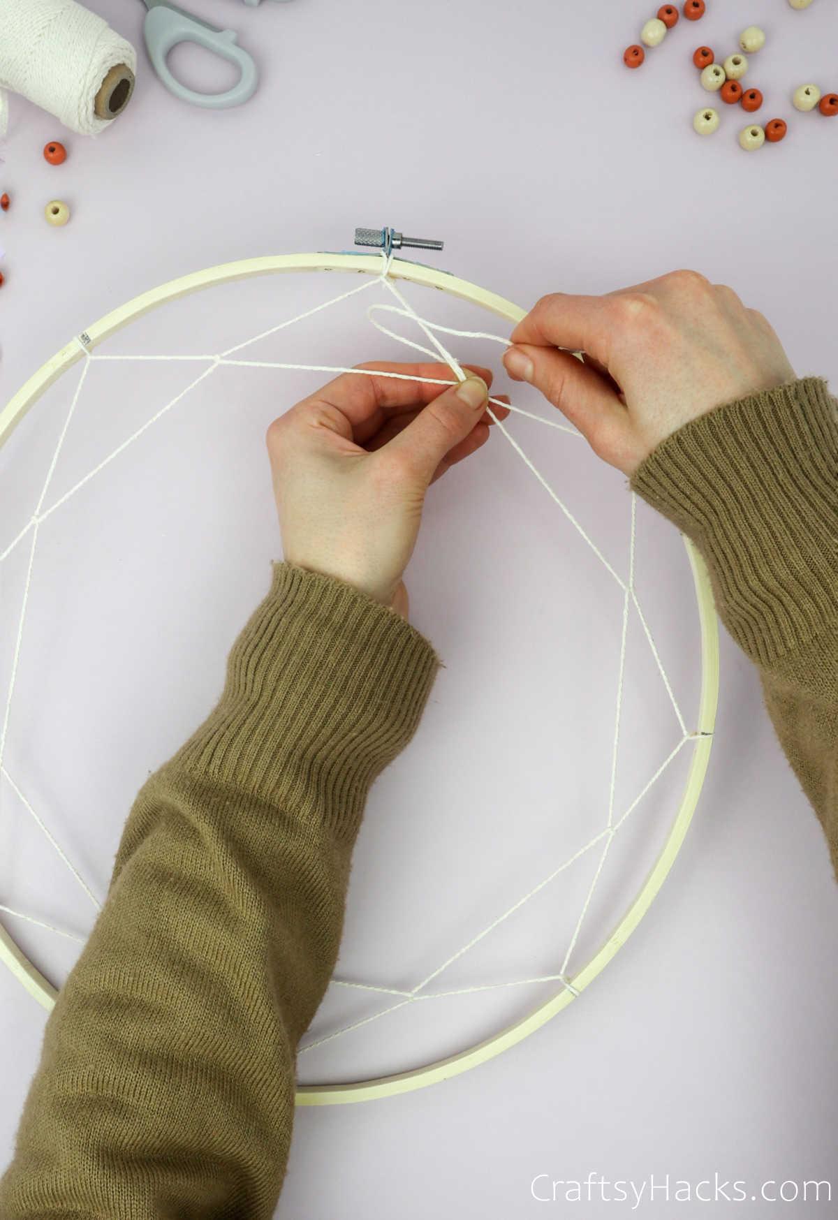 attaching string