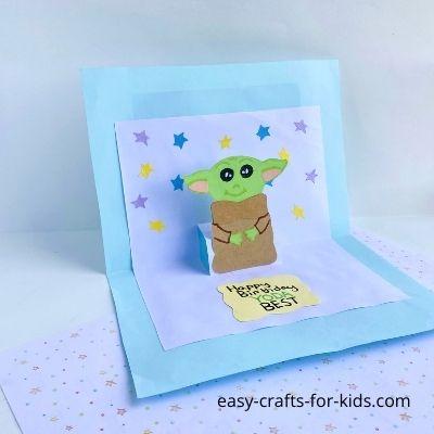 Yoda Pop Up Birthday Card
