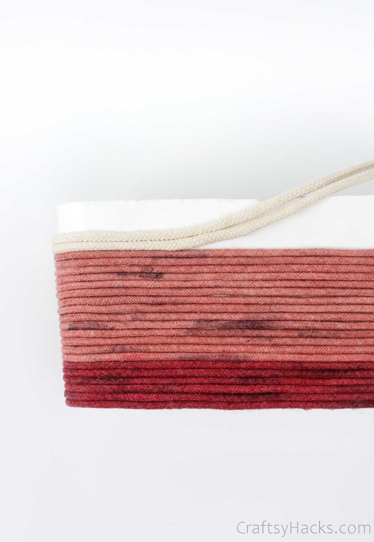 adding third colour of rope