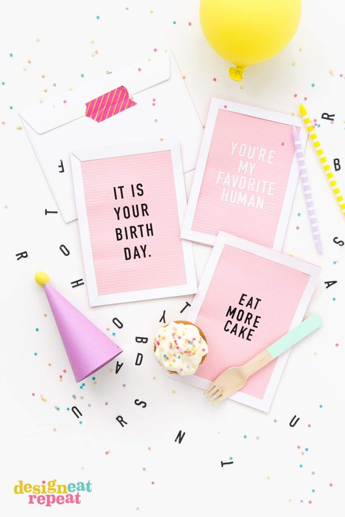 Letterboard Cards