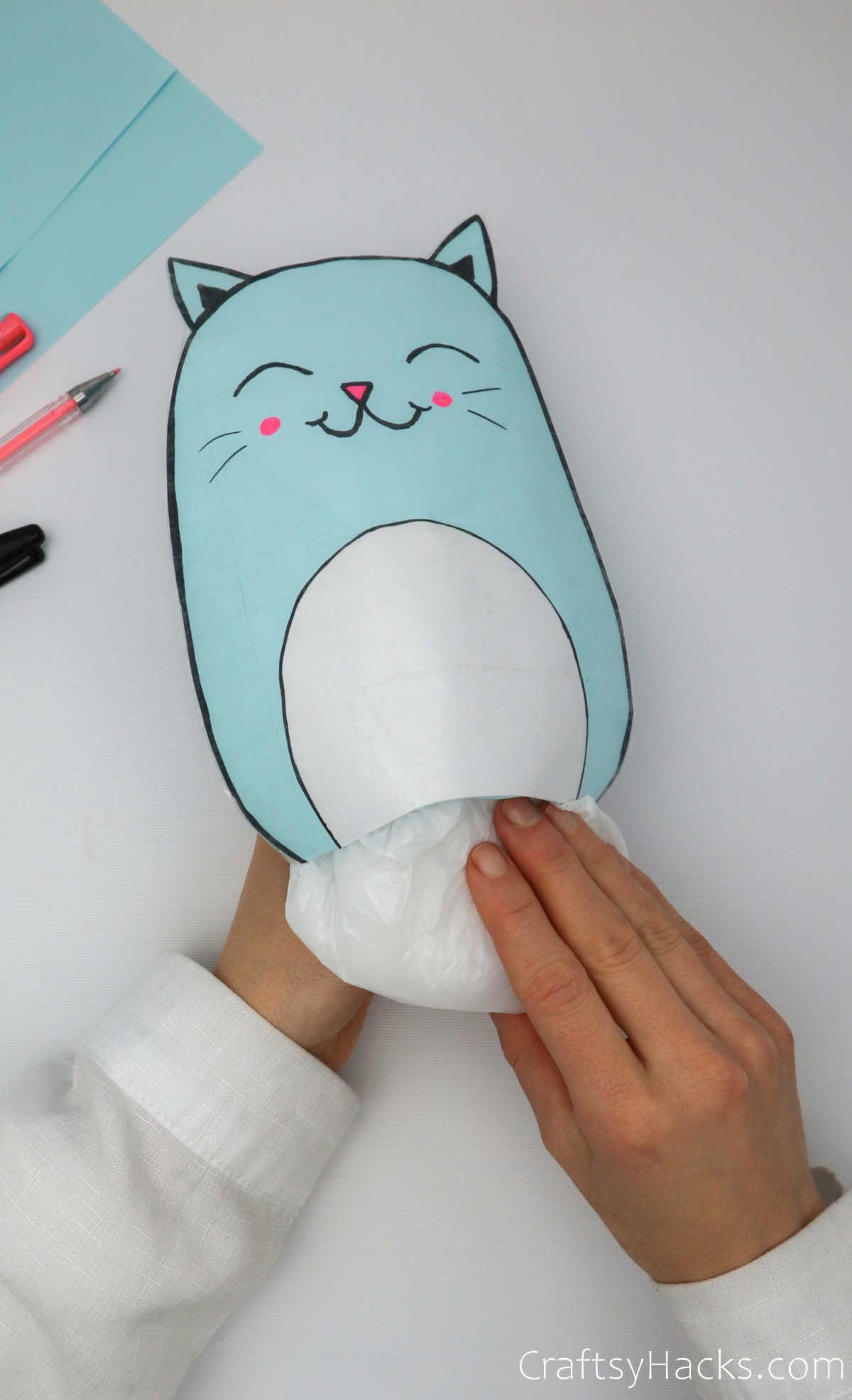 adding stuffing to squishie