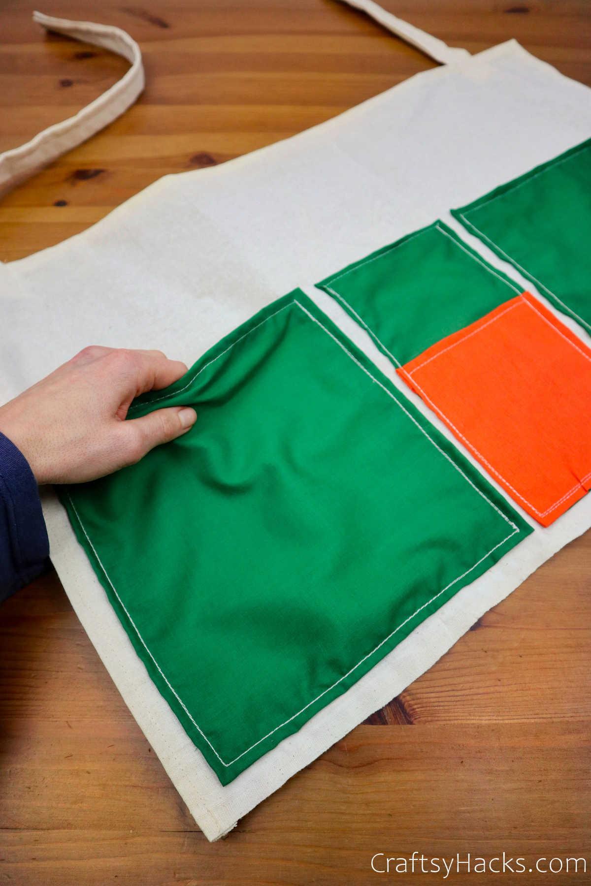 holding fabric pocket