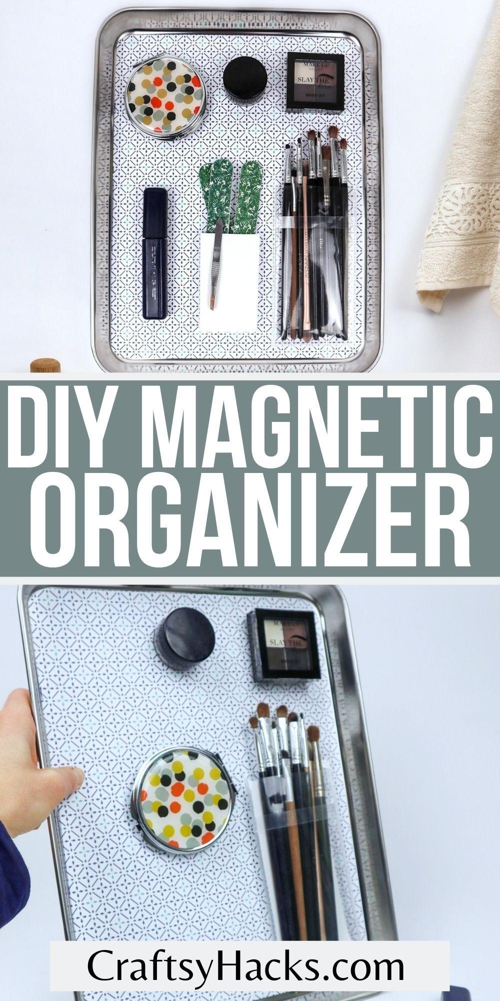 diy magnetic organizer