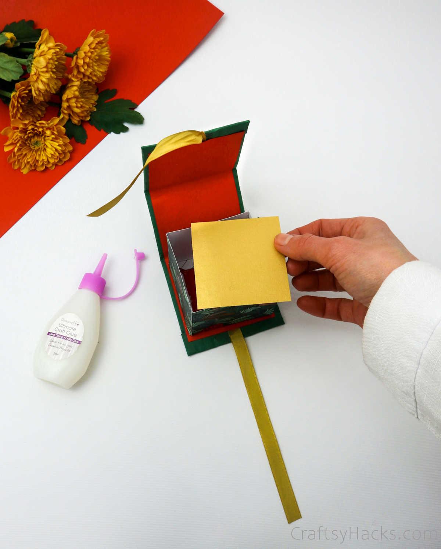 adding bottom to gift box