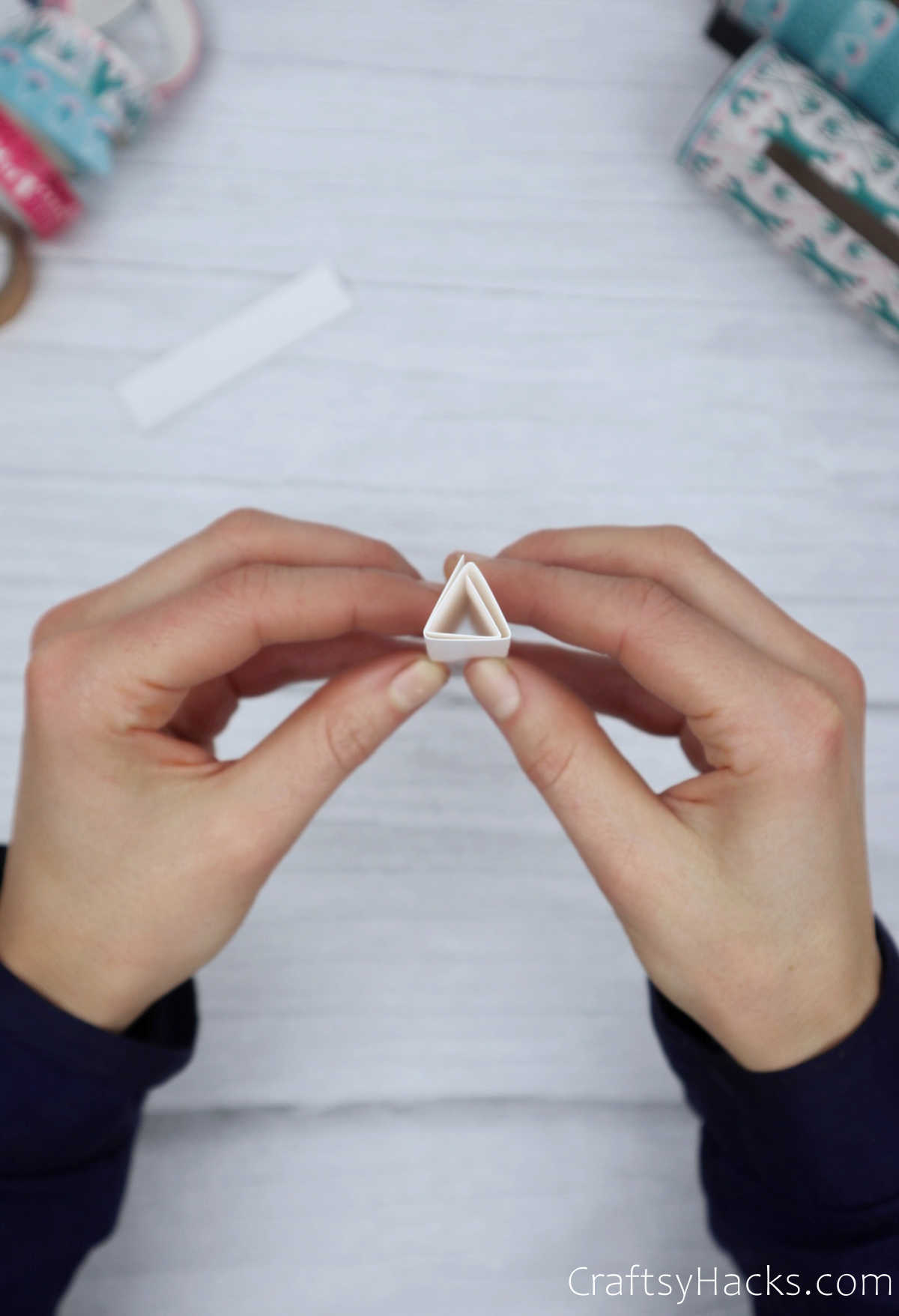 completed paper triangle