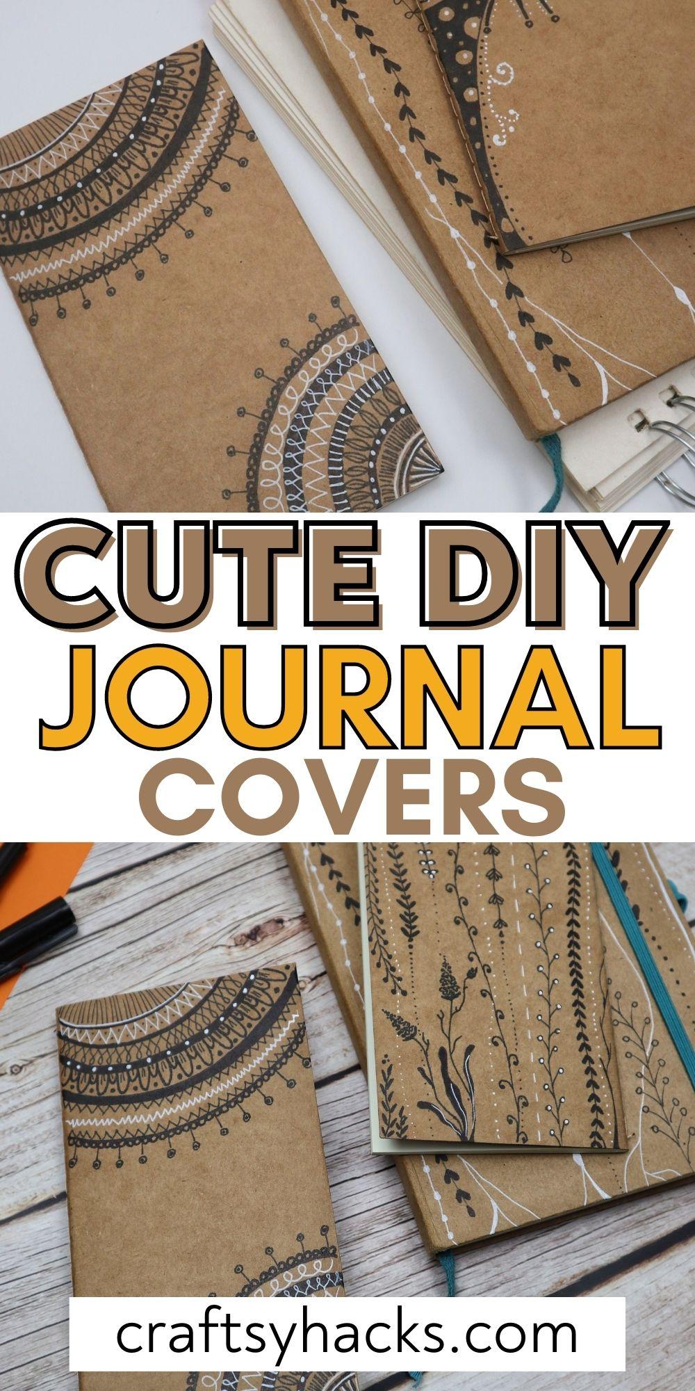 cute diy journal covers