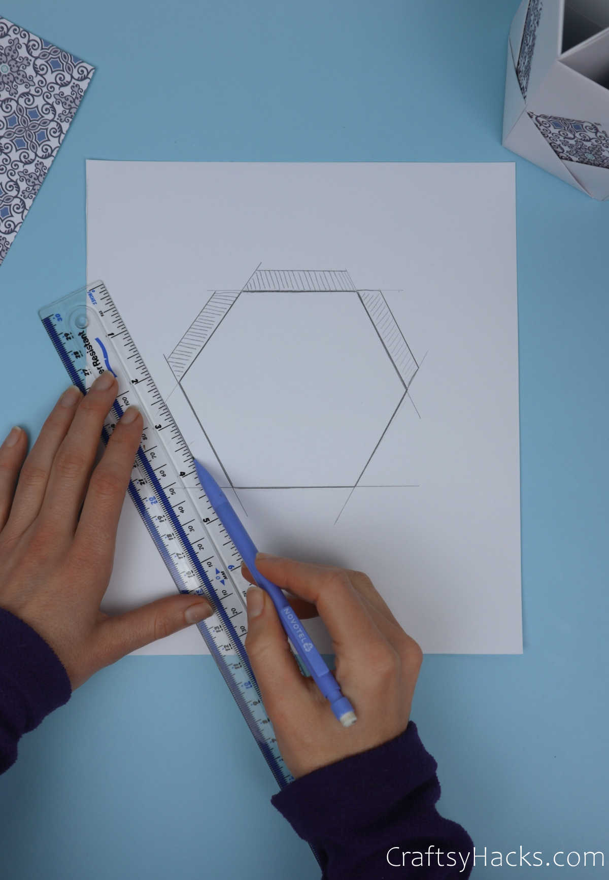 tracing lines on paper