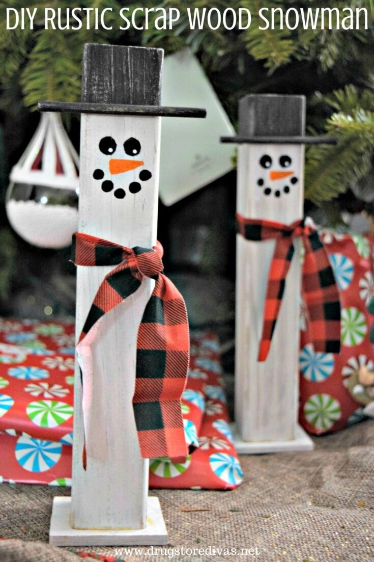 DIY Rustic Scrap Wood Snowman