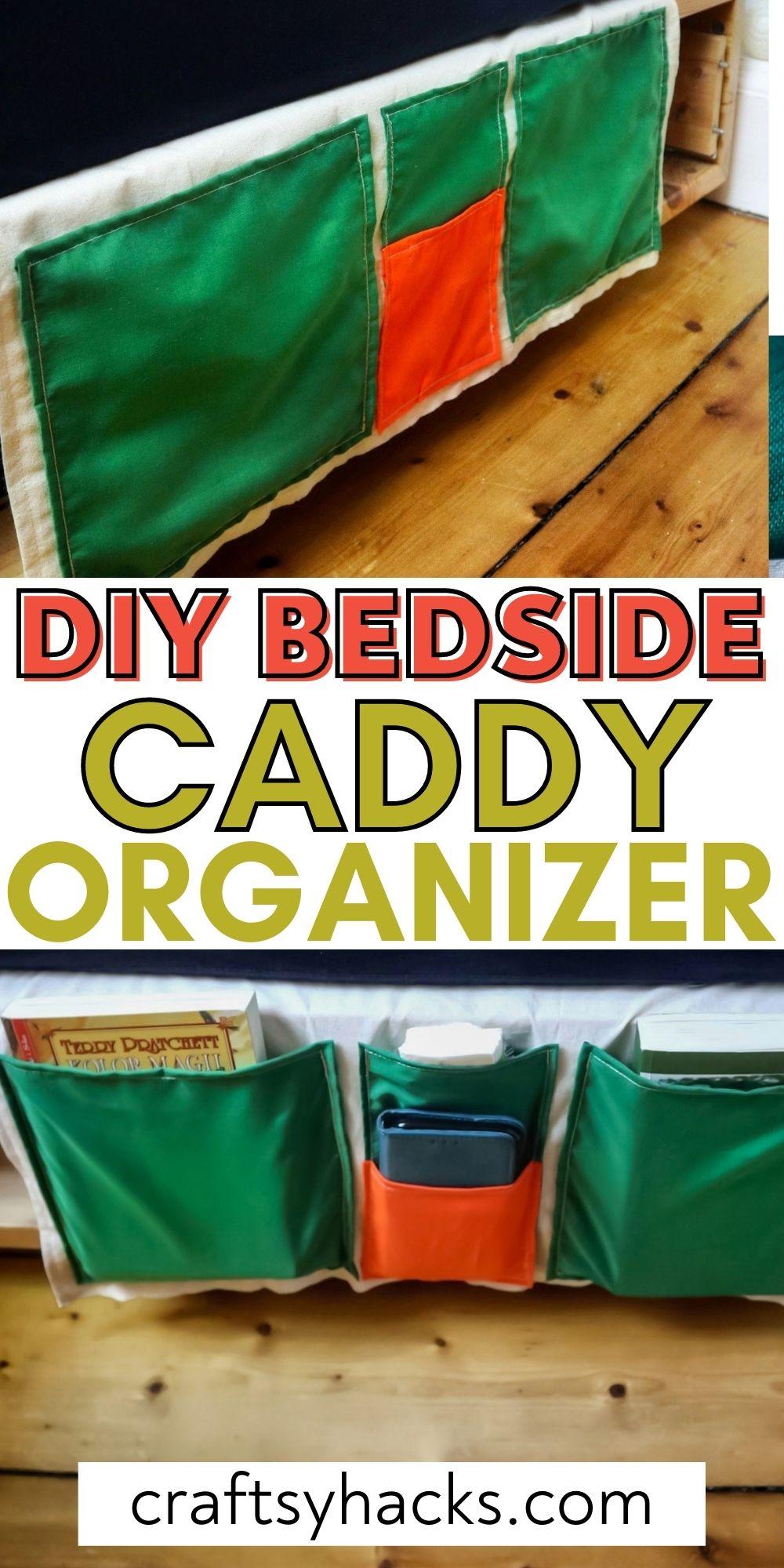 diy bedside caddy organizer