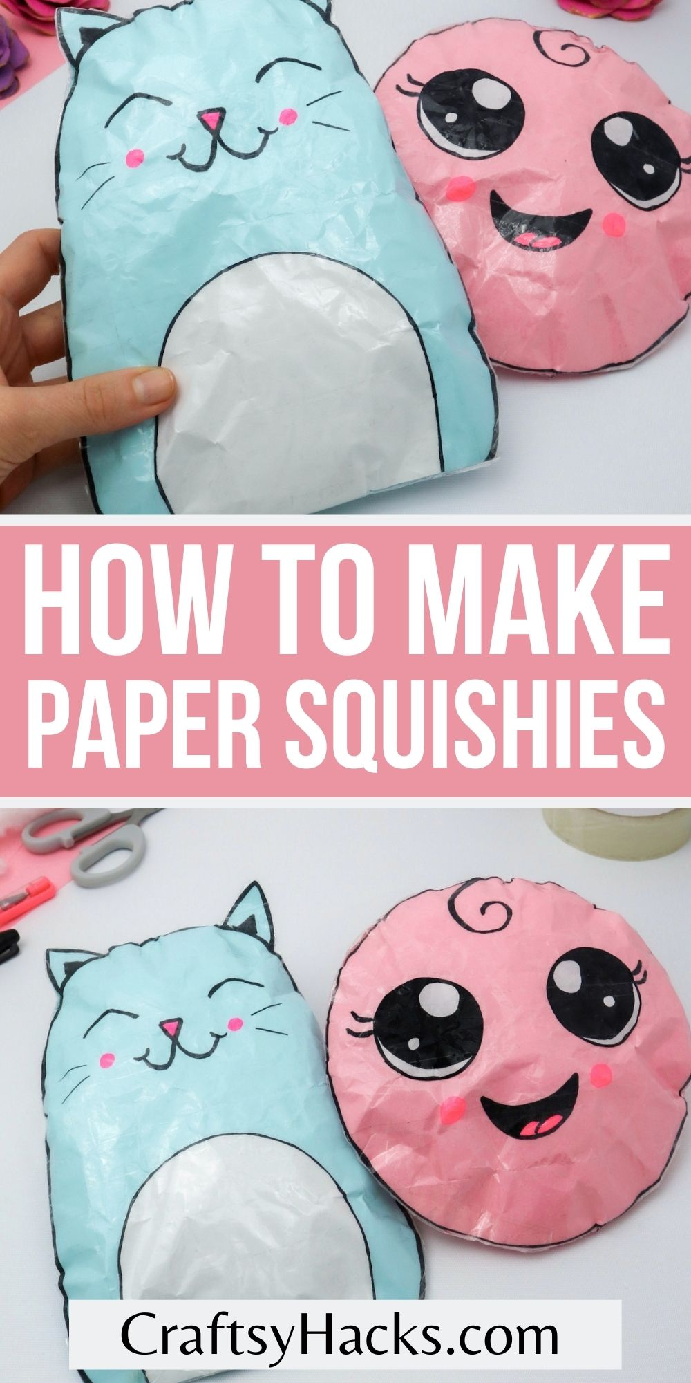 how to make paper squishies