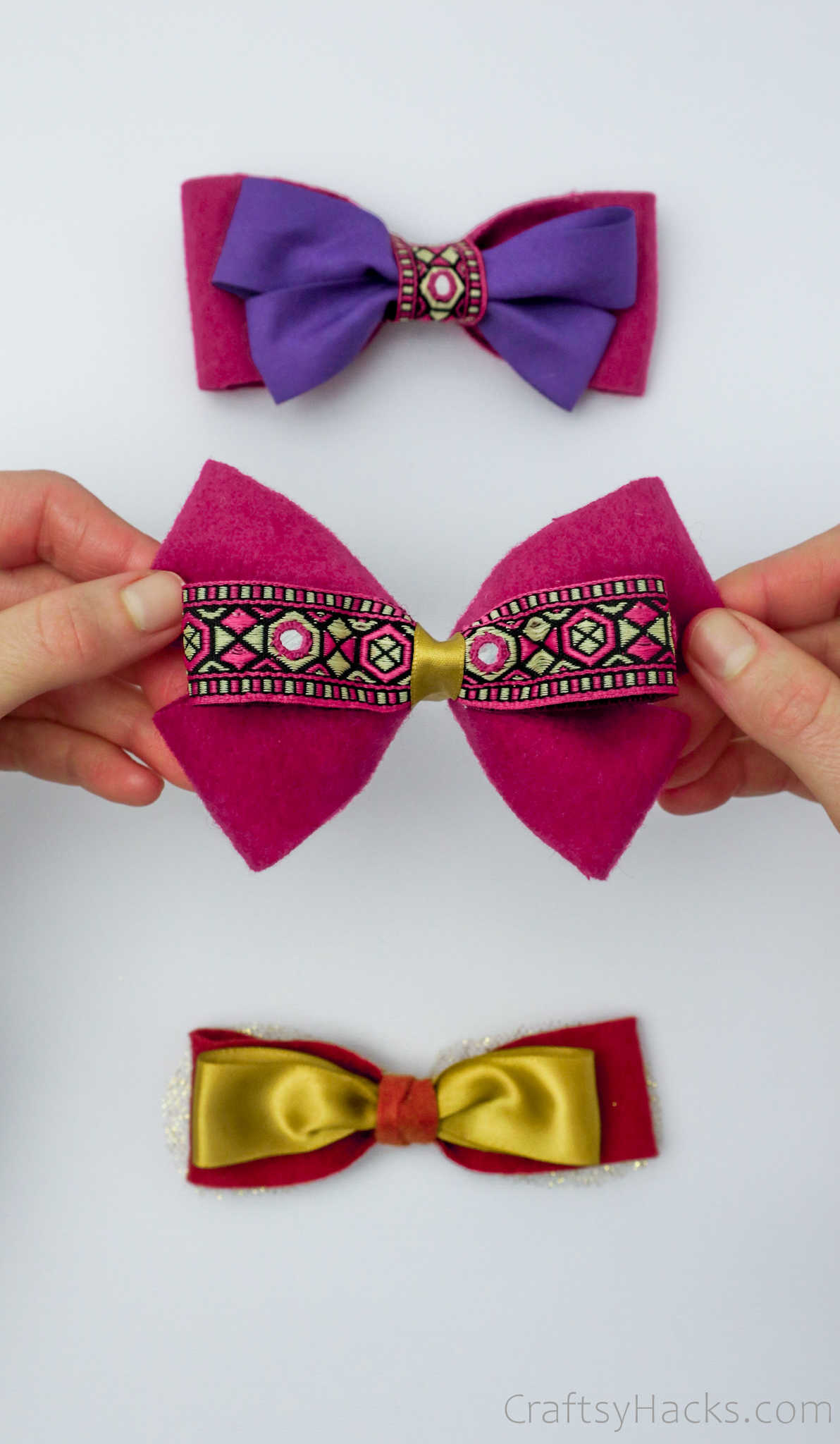 completed set of hair bows