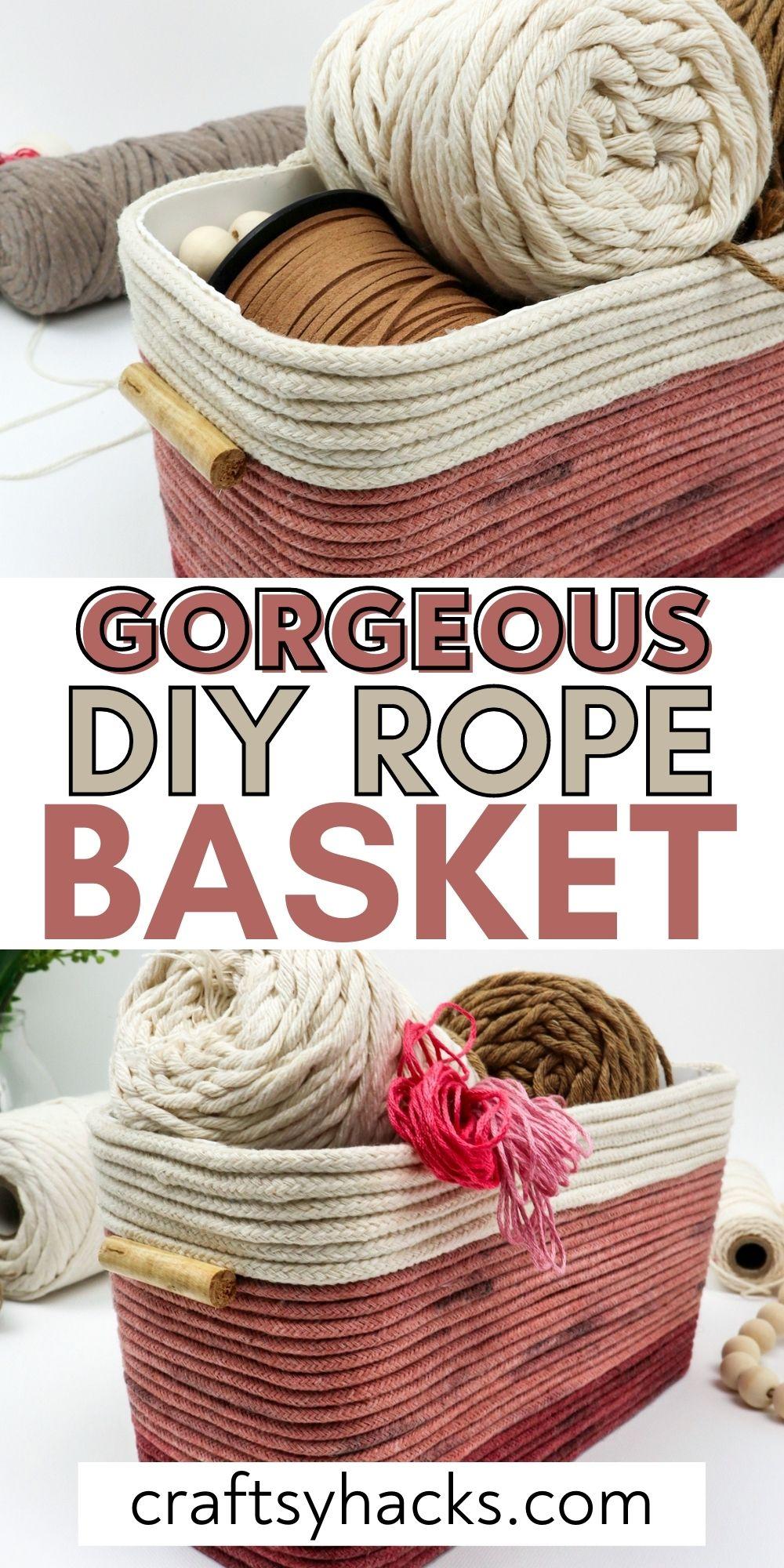 gorgeous diy rope basket