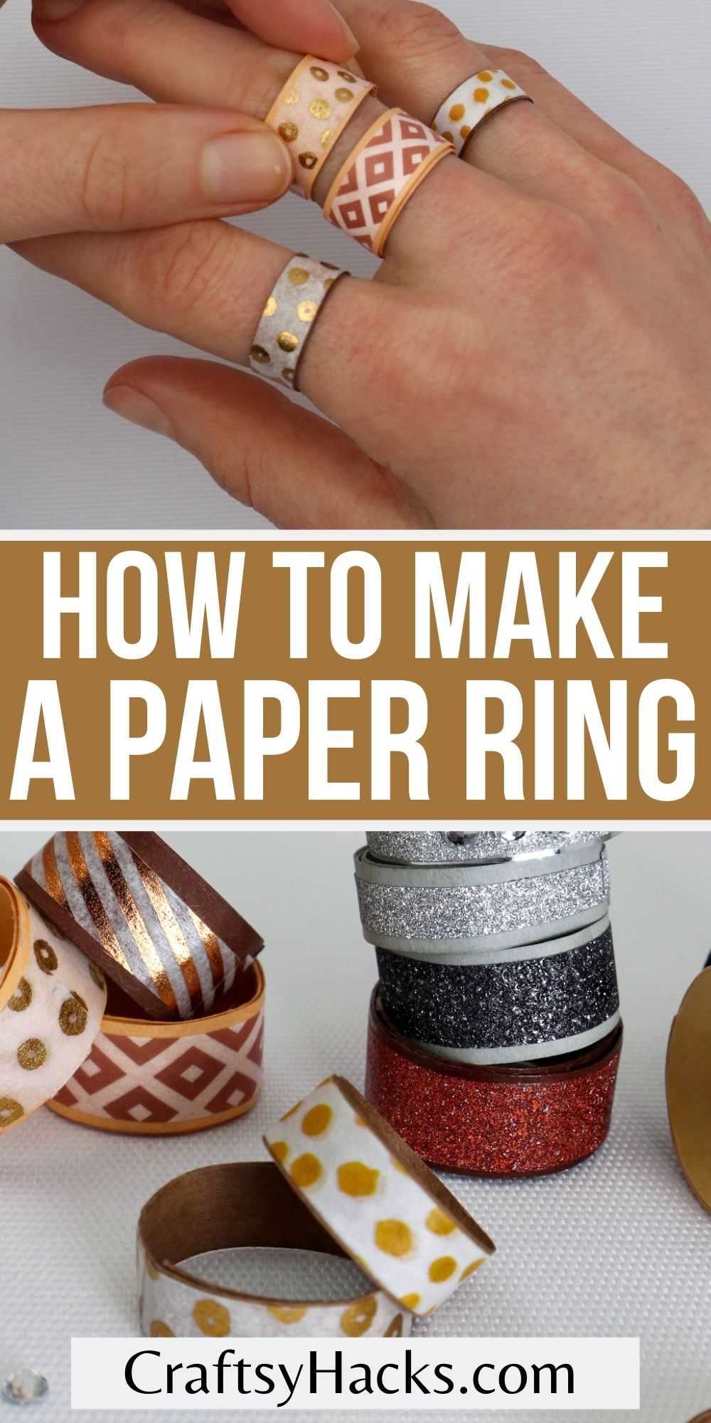 how to make paper rings