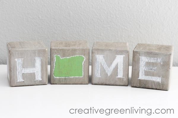 Rustic Home State Art Blocks