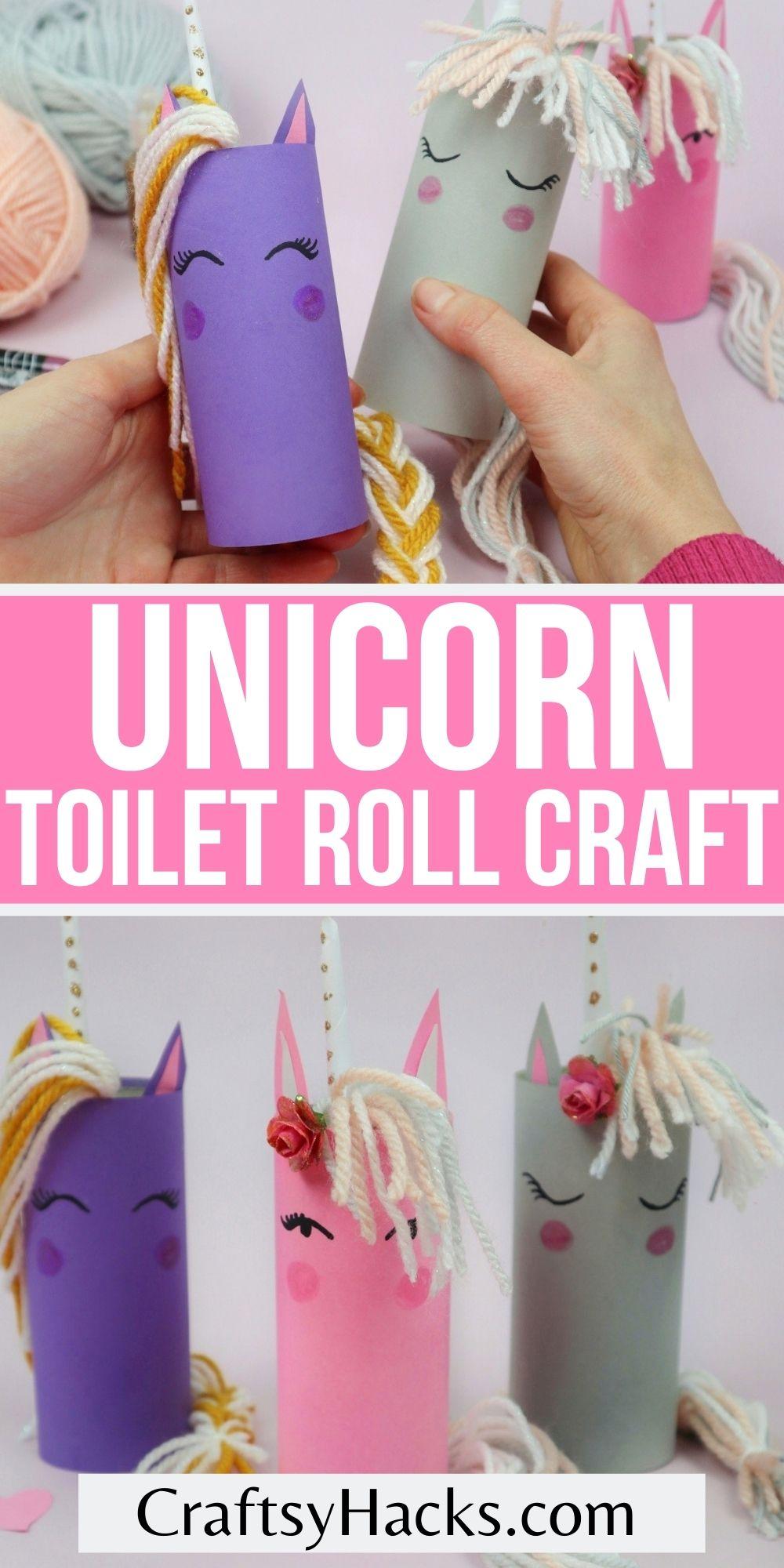 unicorn toilet roll crafts