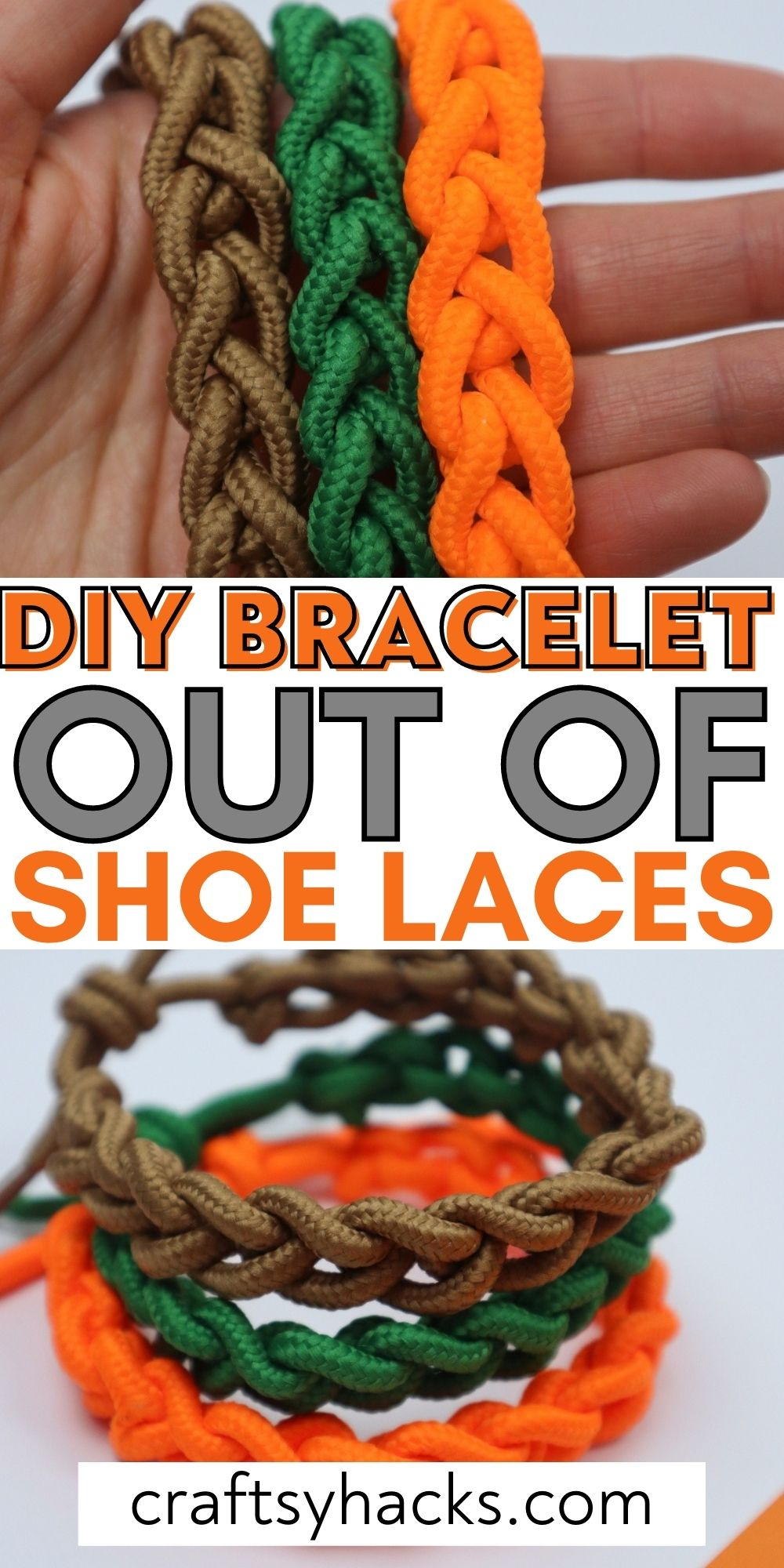diy bracelet out of shoe laces