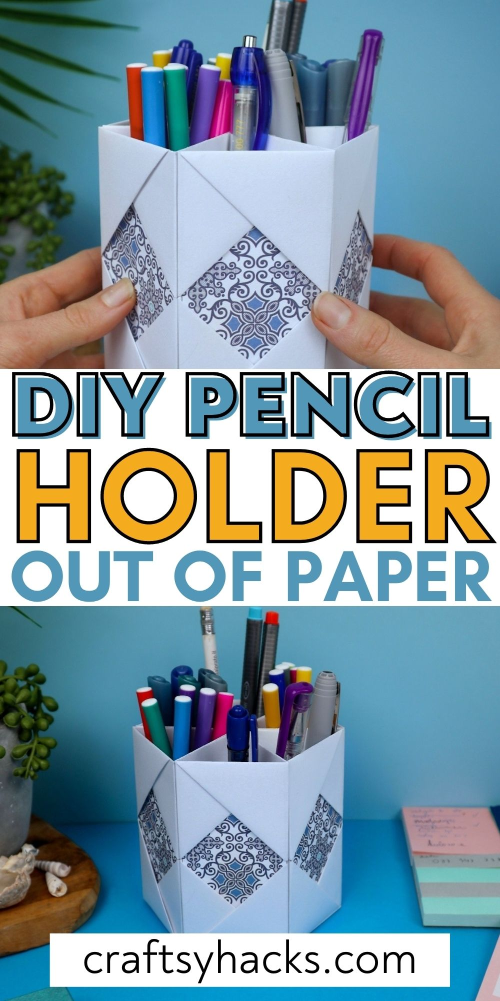 diy pencil holder out of paper