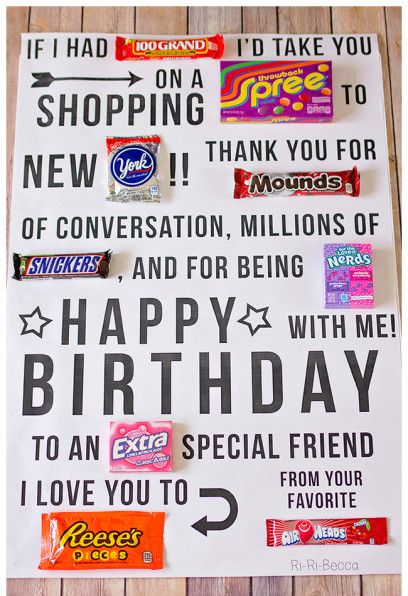 Candy Gram Card