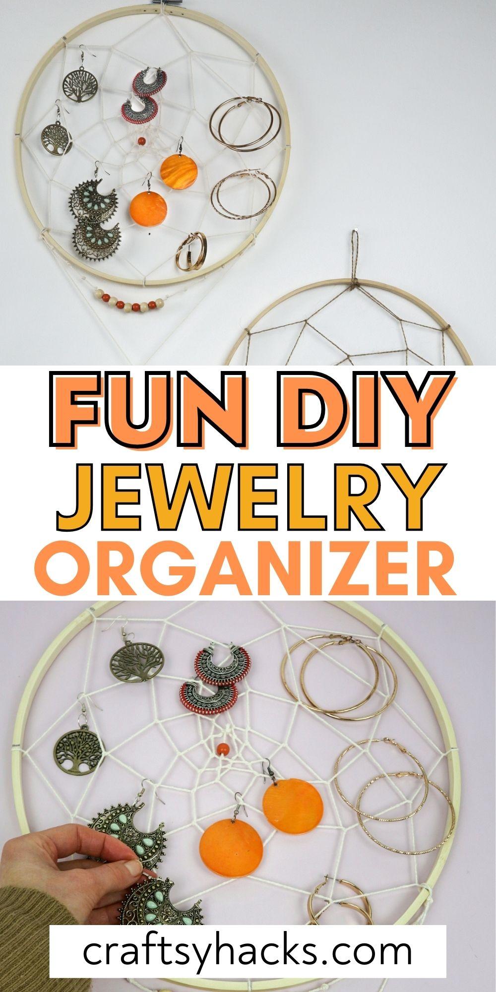 fun DIY jewelry organizer