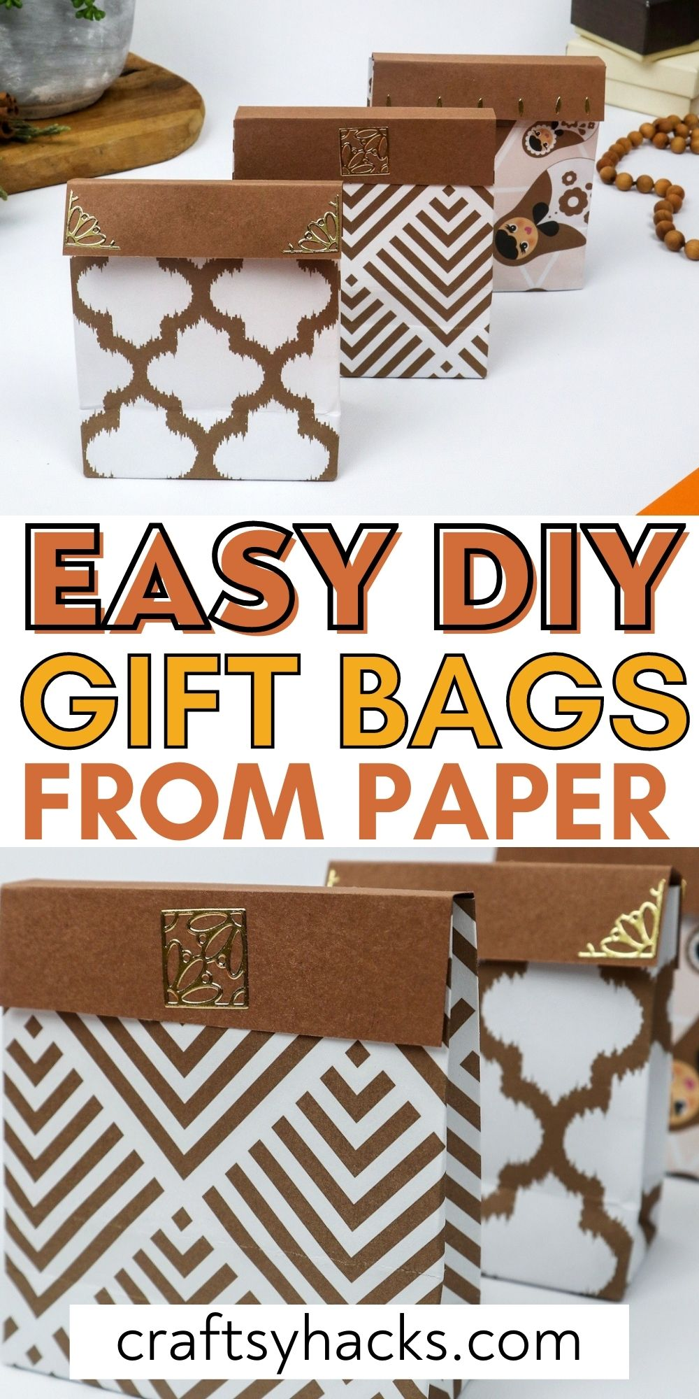 easy diy gift bags from paper