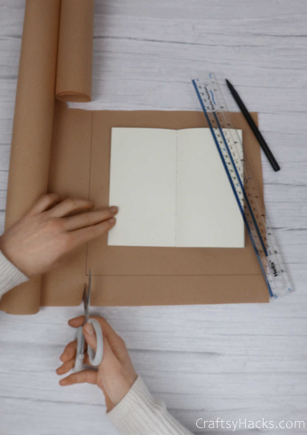 cutting craft paper to size