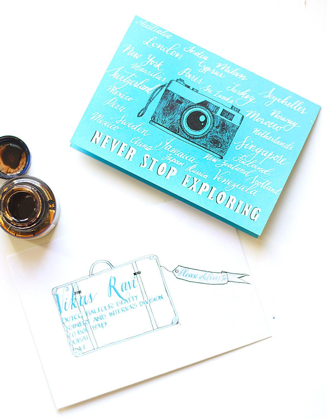 Travel-Inspired Birthday Card