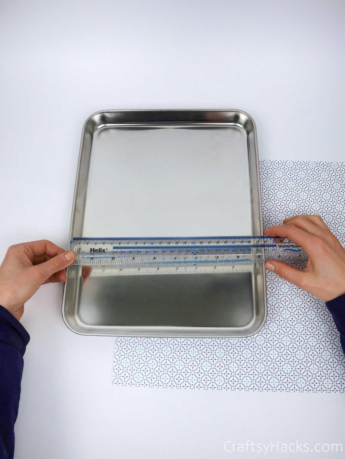 measuring tray