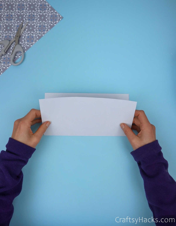folding paper in half