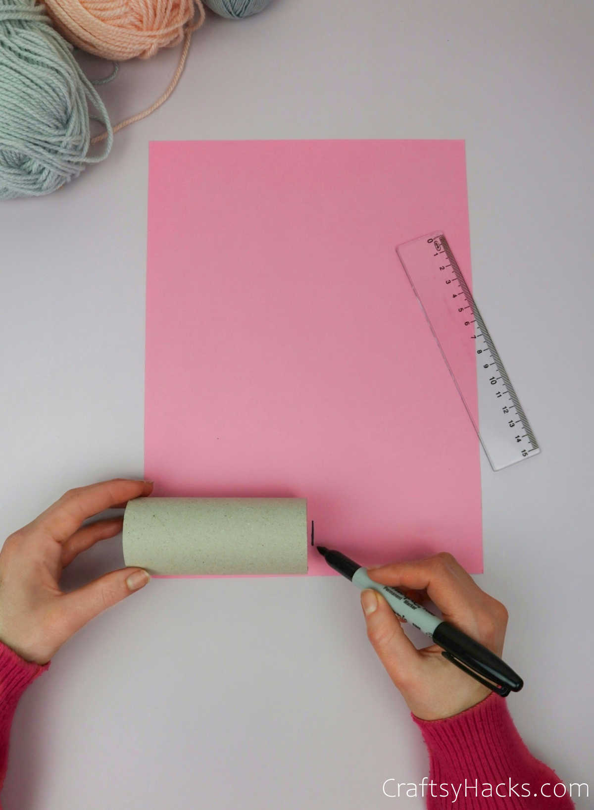 tracing paper roll on paper