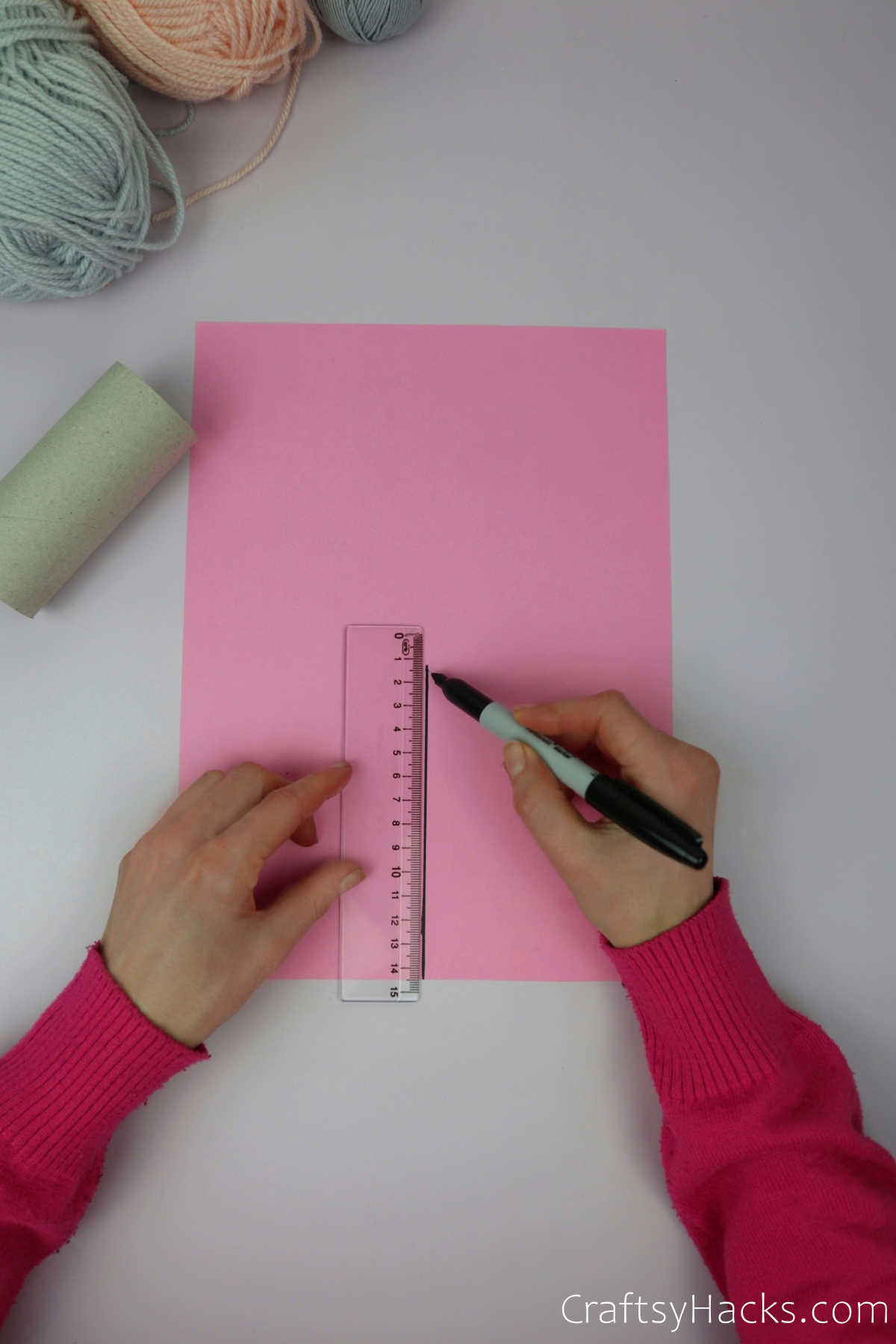 measuring on paper with ruler