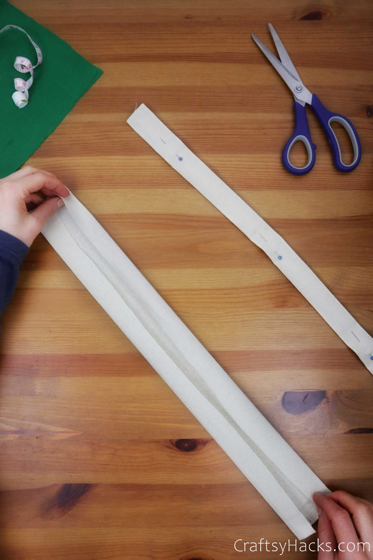 folding piece of fabric