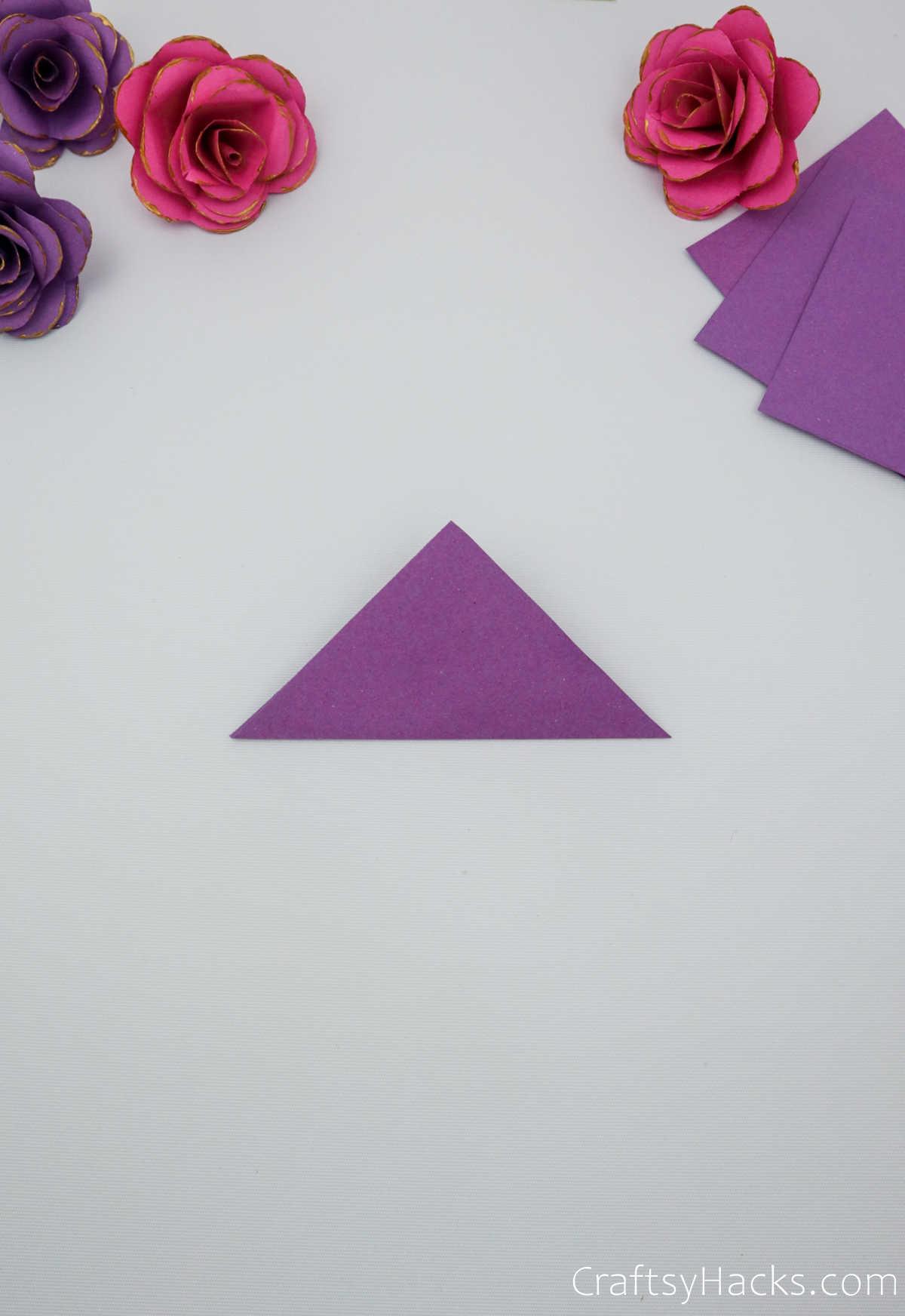 purple paper triangle