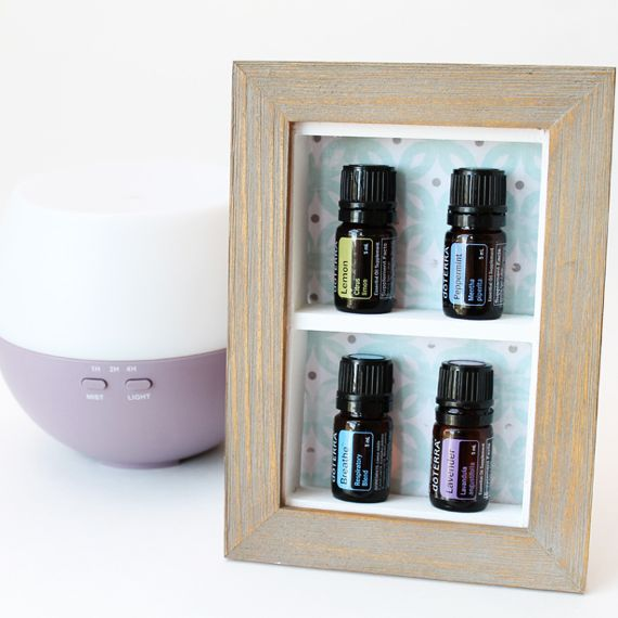 DIY Desktop Essential Oil Display