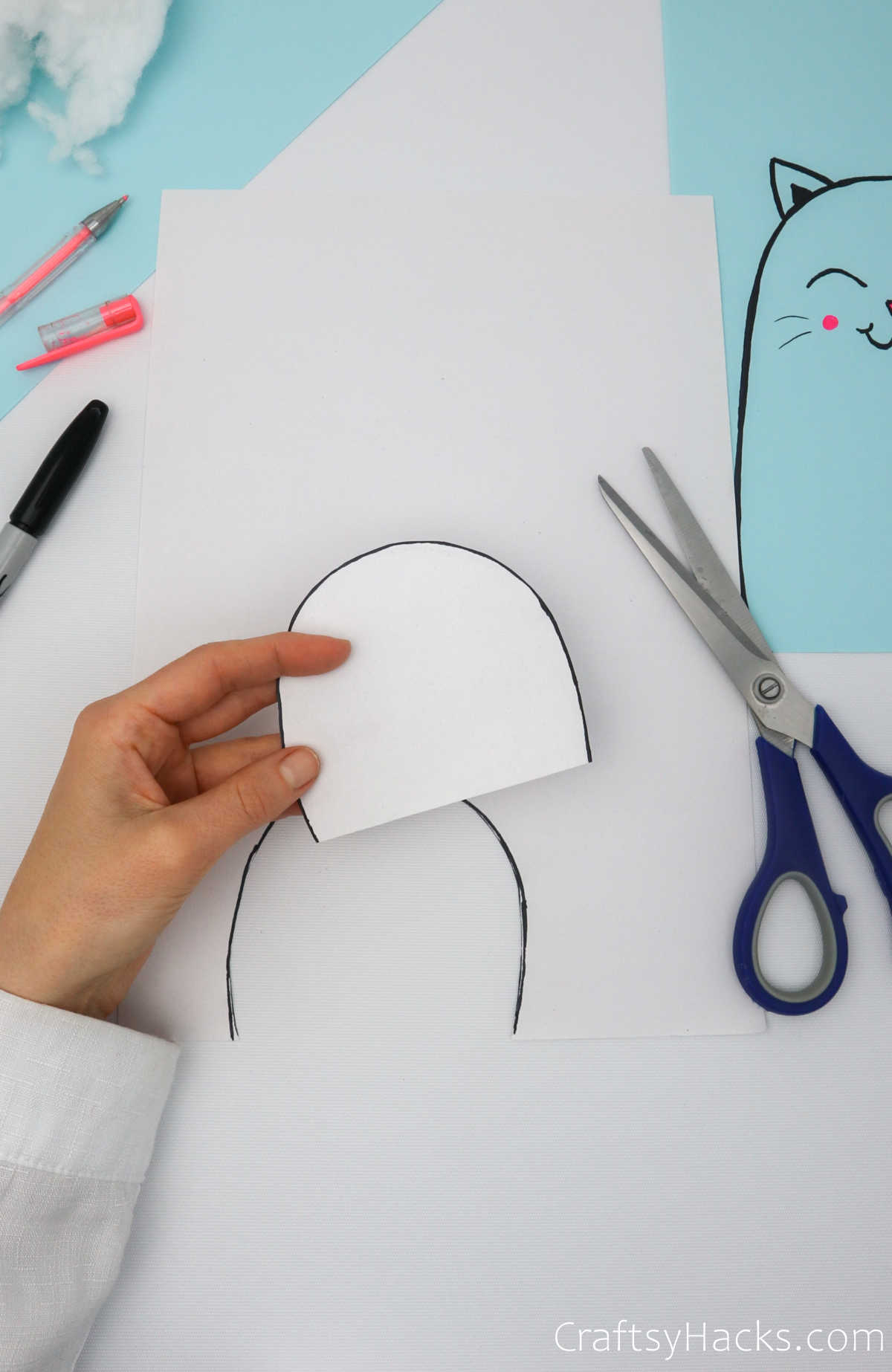 cutting out paper