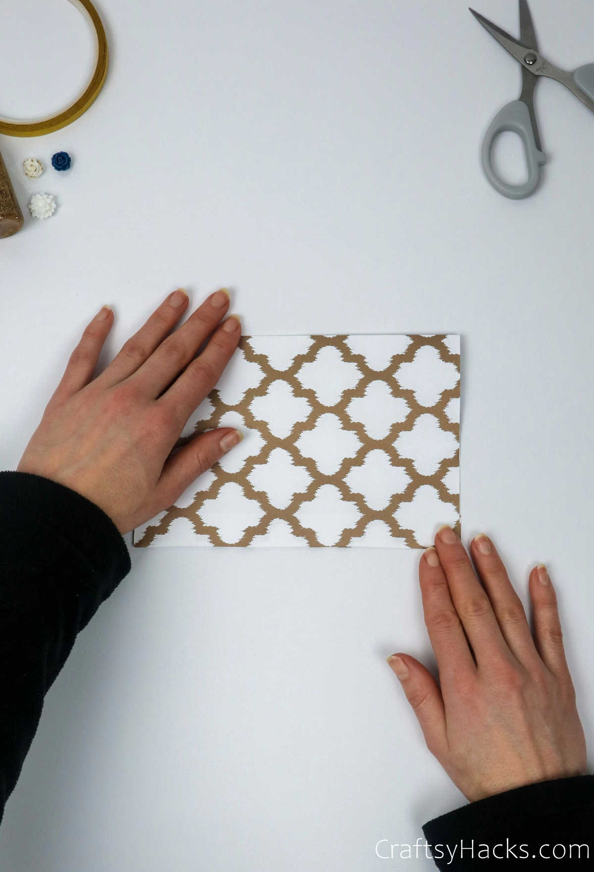 folding down paper