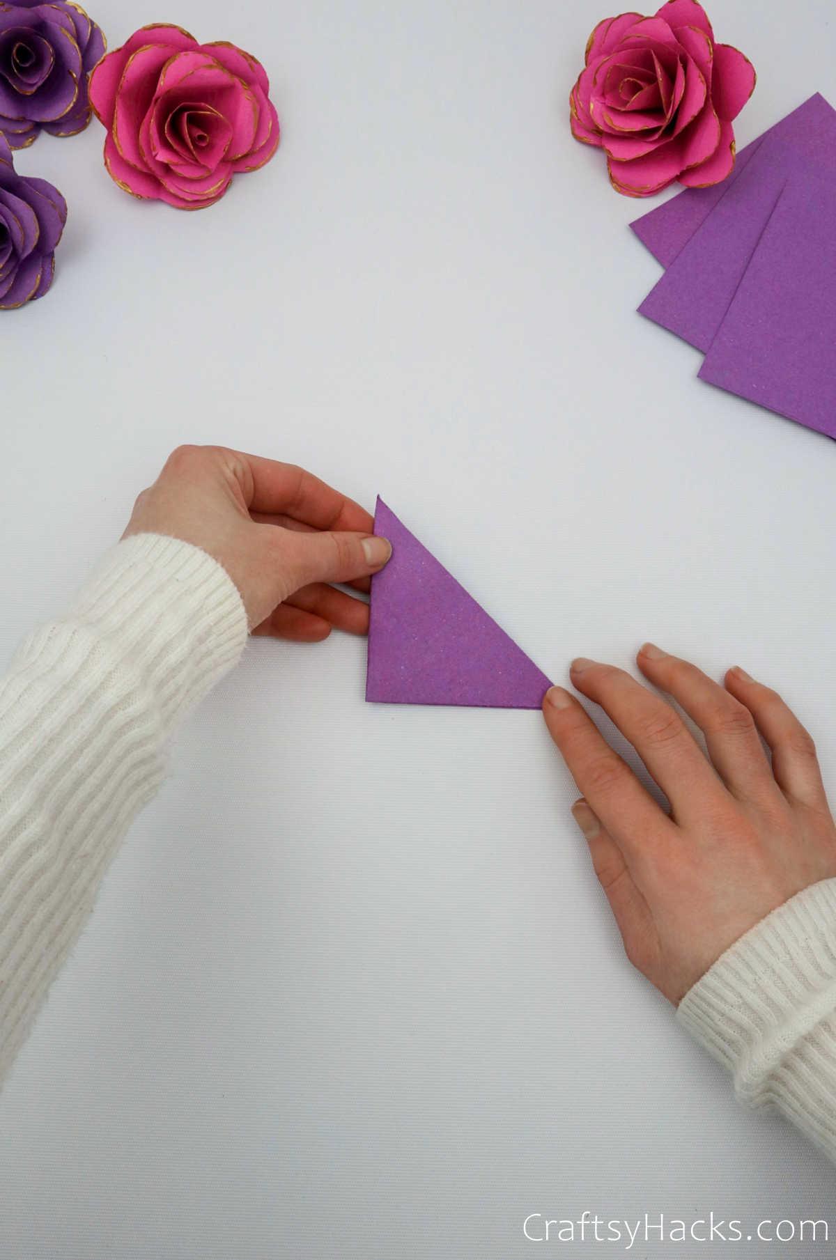 folding paper triangle