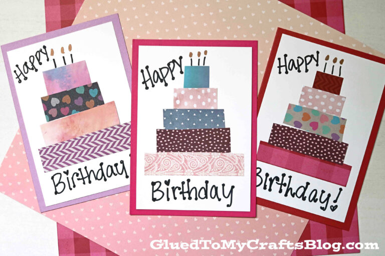 Paper Scrapped Birthday cards