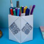 diy paper pencil holder