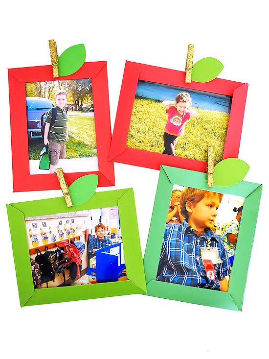 Apple Paper Photo Frames