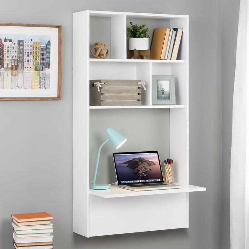 Floating Desk with Shelves