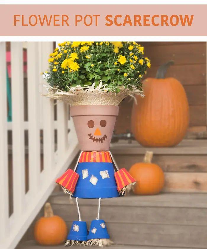 Terracotta Pots Scarecrow