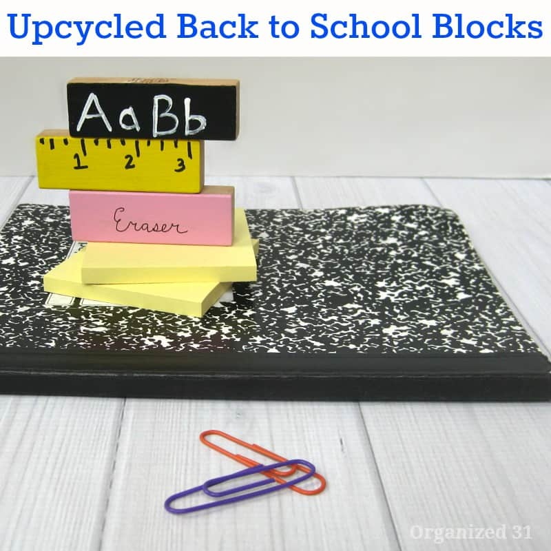 Back to School Themed Upcycled Craft