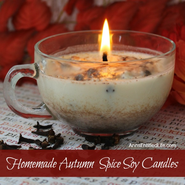 Homemade Autumn Spice Candles