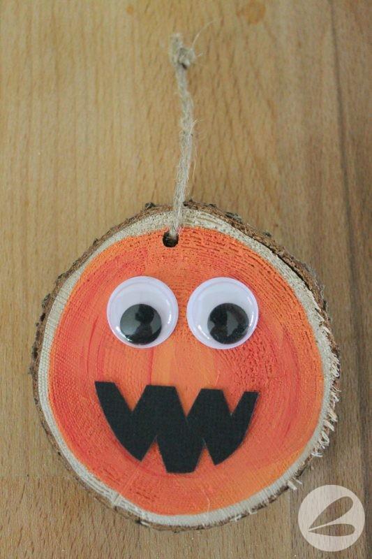 Wooden Pumpkin Ornament