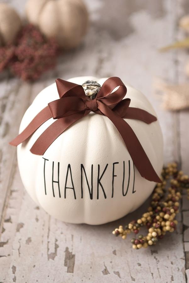 Cricut Thanksgiving Faux Pumpkin