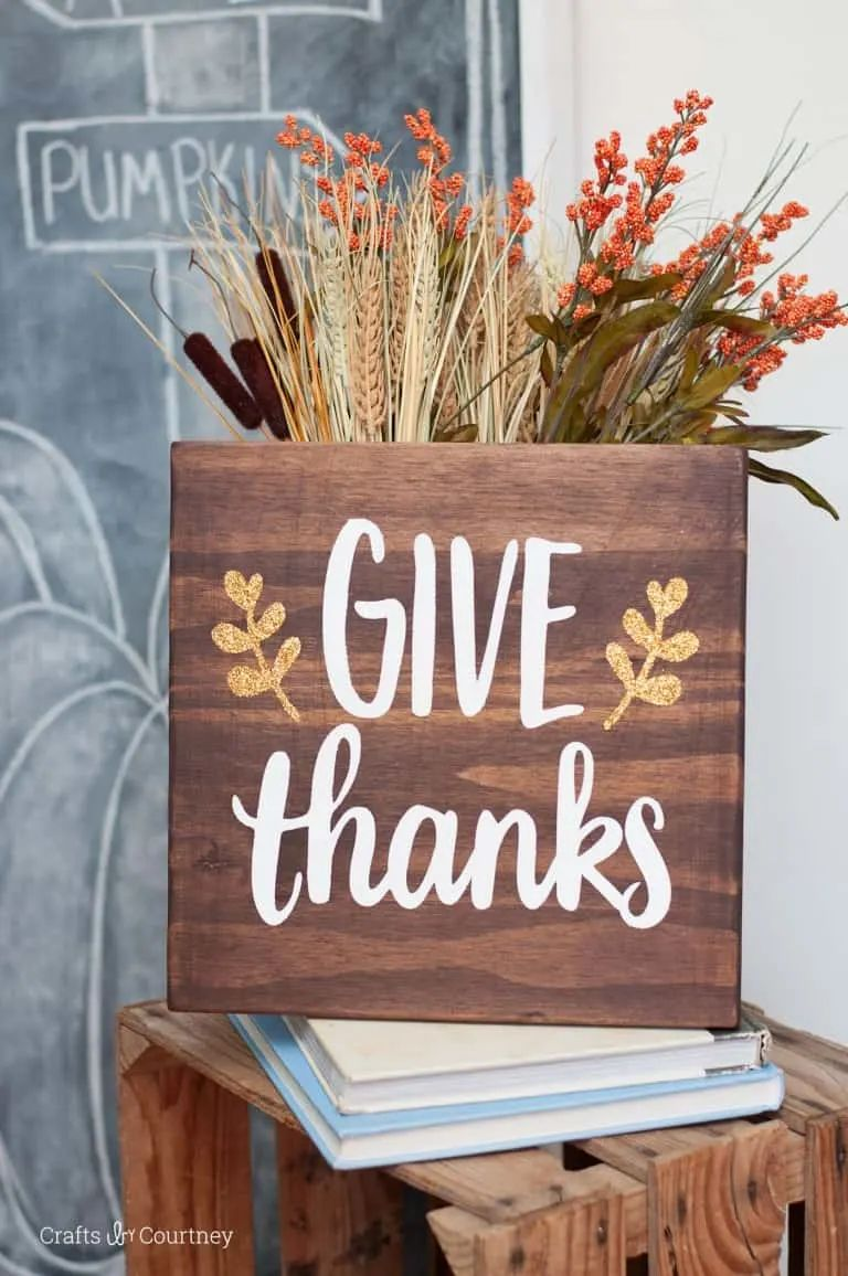 Give Thanks Thanksgiving Sign