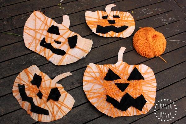 Yarn-Covered Pumpkin